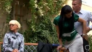 Dissolute Lellou shows meat bazooka riding skills